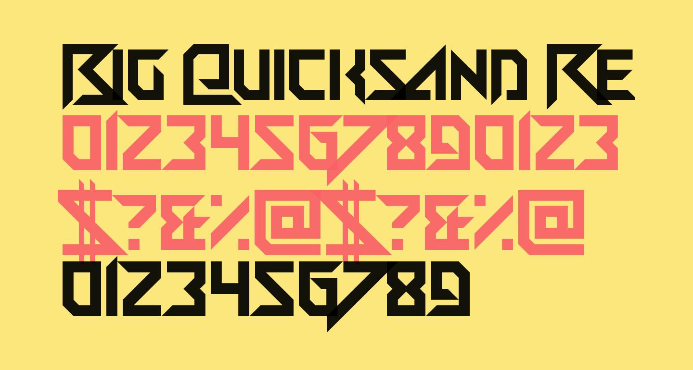Big Quicksand Regular