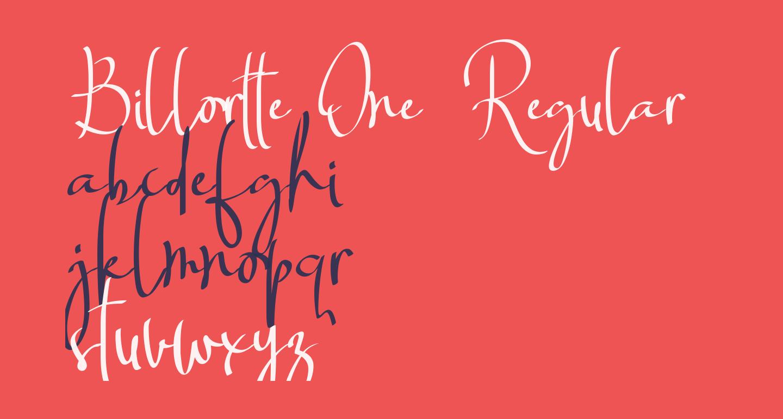 Billortte One_Regular
