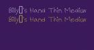 Billy's Hand Thin Medium