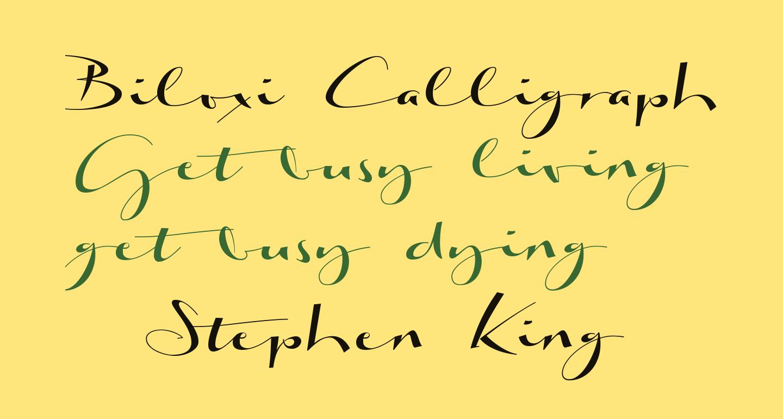Biloxi Calligraphy Demo