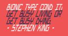 Bionic Type Cond Italic