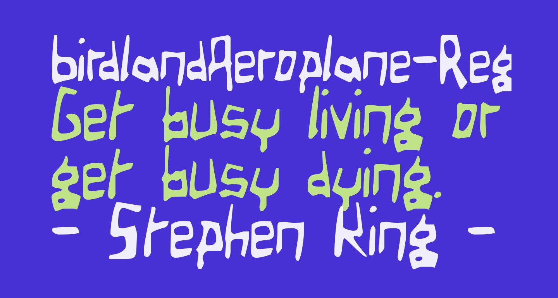 BirdlandAeroplane-Regular
