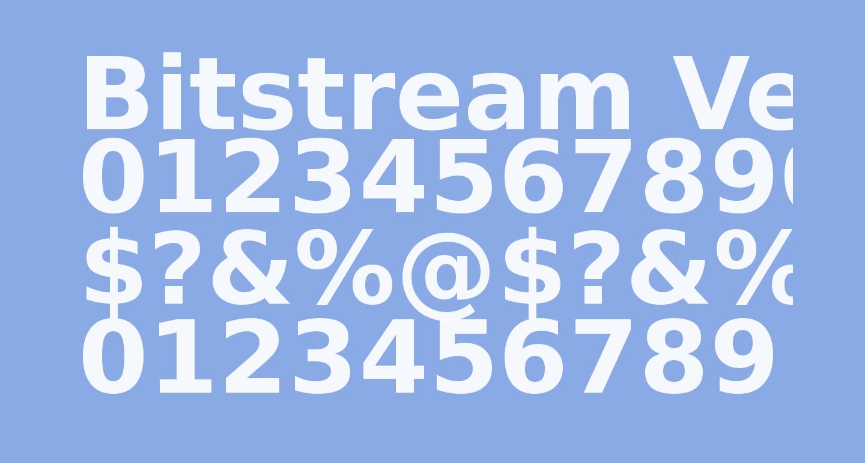 Bitstream Vera Sans Bold