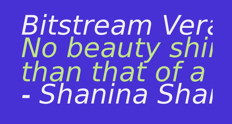 Bitstream Vera Sans Oblique