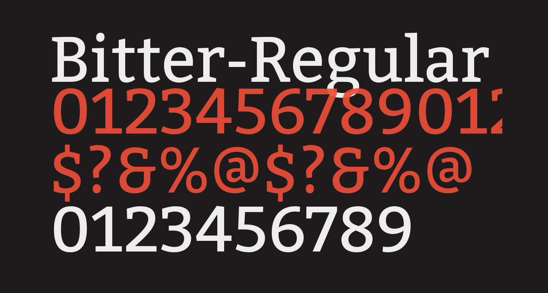 Bitter-Regular