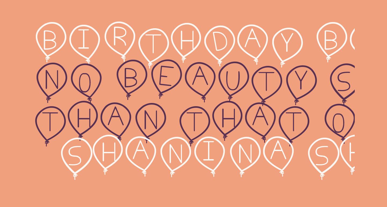 birthday balon tfb