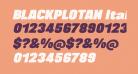 BLACKPLOTAN Italic