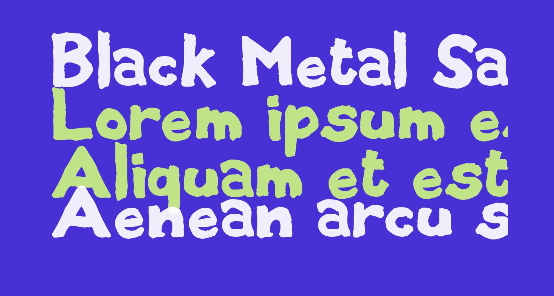 Black Metal Sans