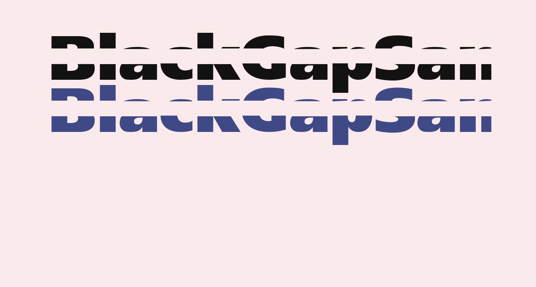 BlackGapSans