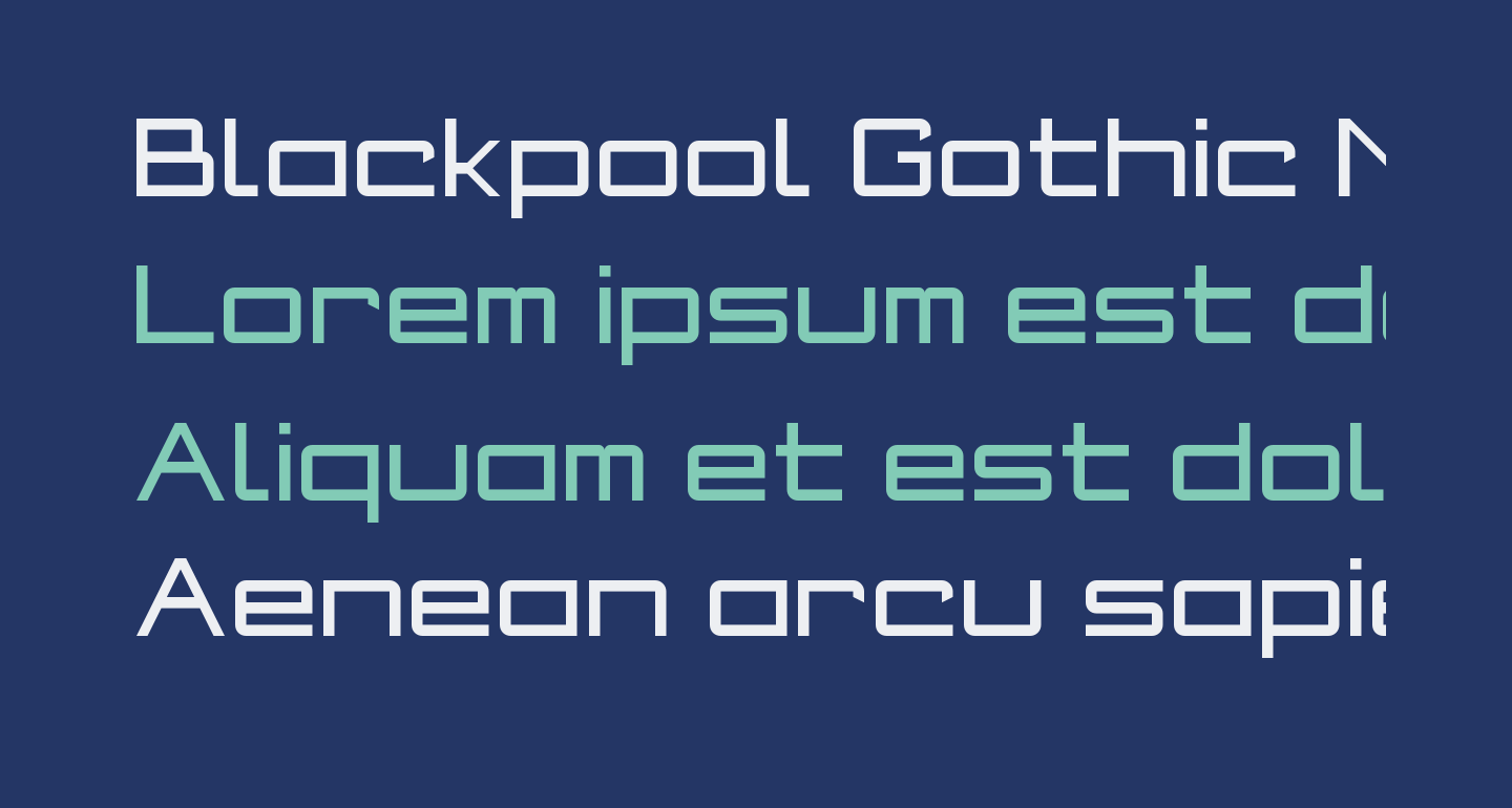 Blackpool Gothic NBP Regular