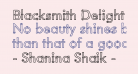 Blacksmith Delight Outlined