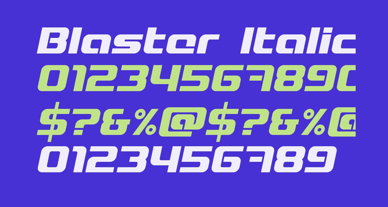 Blaster Italic