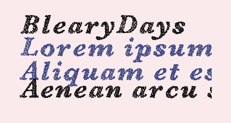 BlearyDays