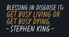 Blessing in Disguise Italic