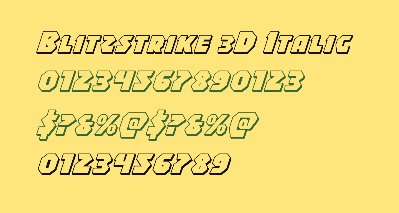 Blitzstrike 3D Italic