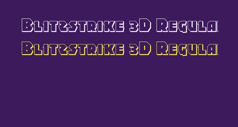 Blitzstrike 3D Regular