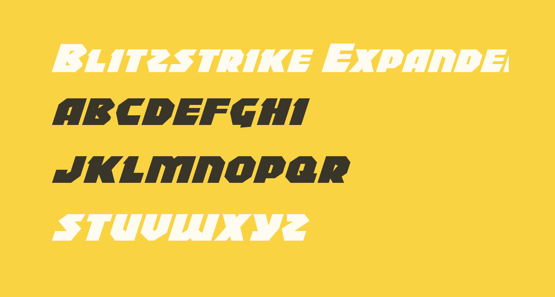 Blitzstrike Expanded Italic