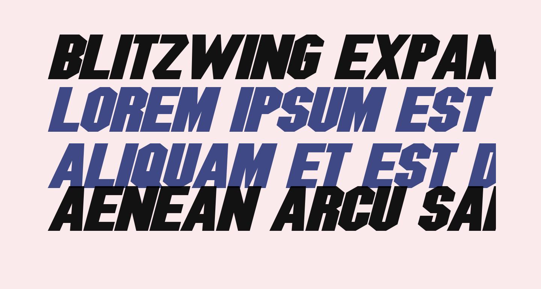 Blitzwing Expanded Bold Italic