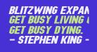 Blitzwing Expanded Italic