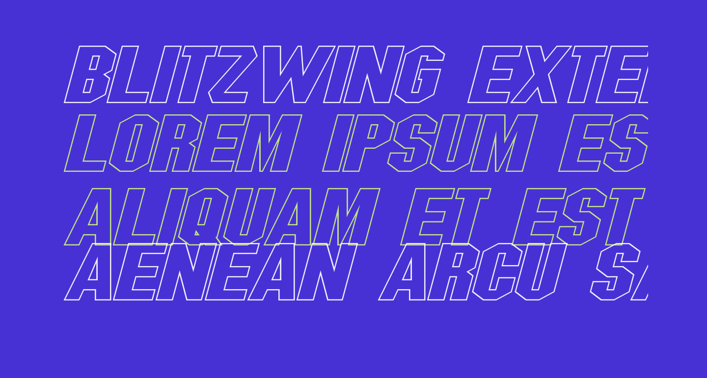 Blitzwing Extended Hollow Italic