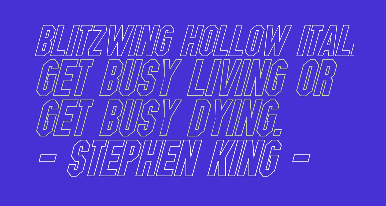 Blitzwing Hollow Italic