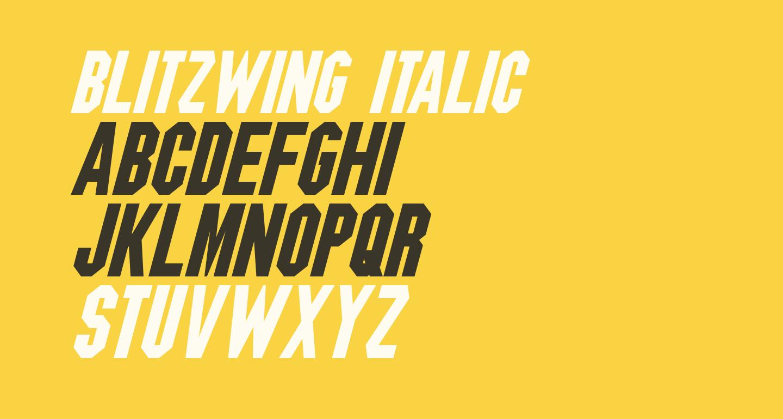Blitzwing Italic