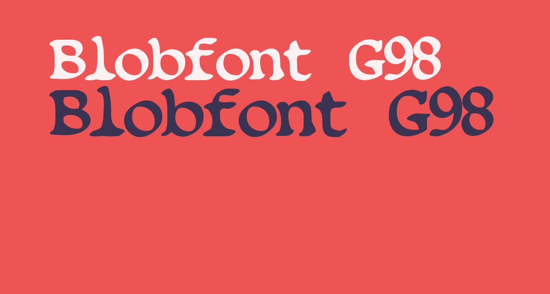Blobfont G98