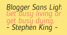 Blogger Sans Light Italic