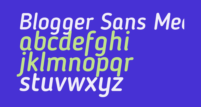 Blogger Sans Medium Italic