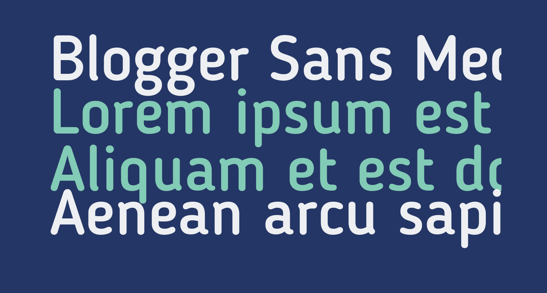 Blogger Sans Medium
