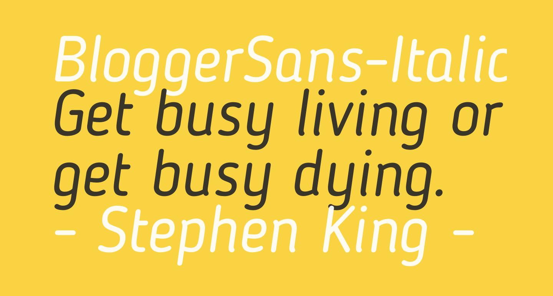 BloggerSans-Italic