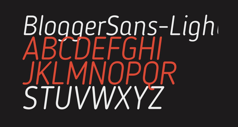 BloggerSans-LightItalic