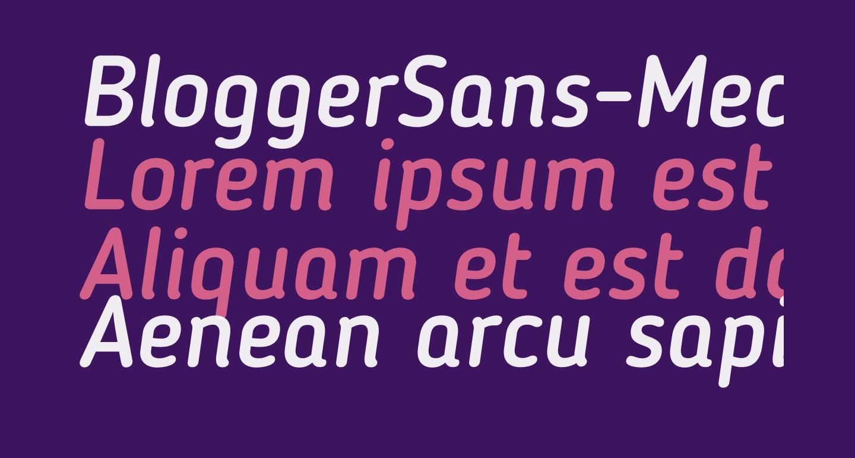 BloggerSans-MediumItalic