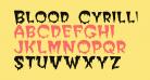 Blood Cyrillic