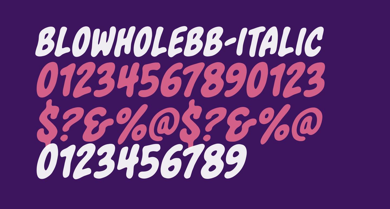 BlowholeBB-Italic