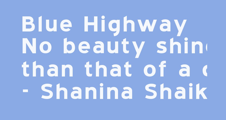 Blue Highway   Bold