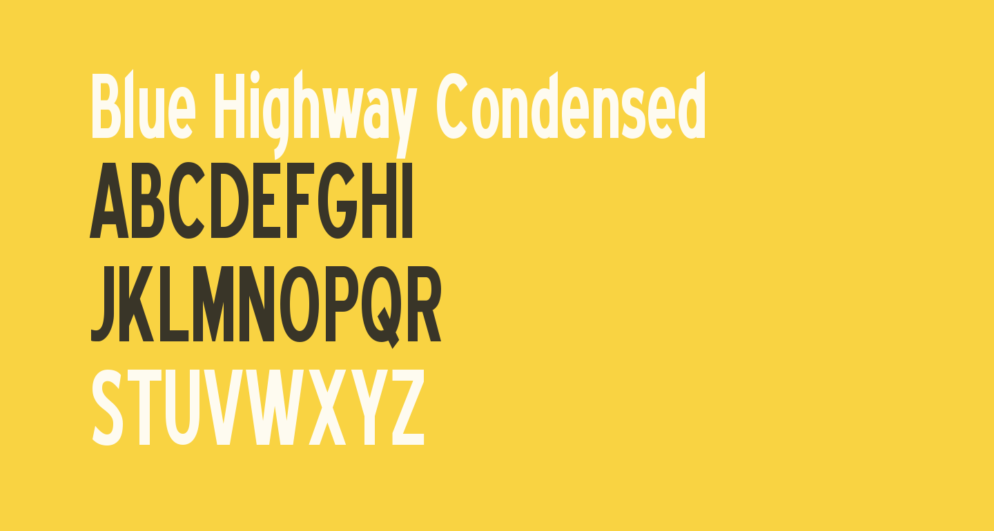 Blue Highway Condensed
