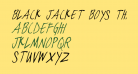 black jacket boys Thin Italic