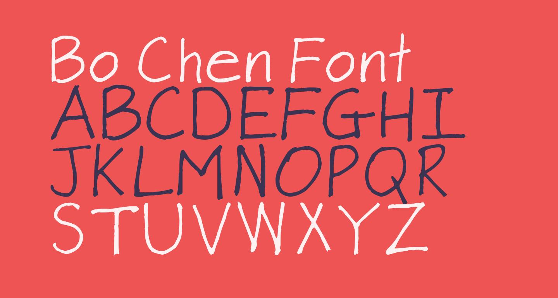 Bo Chen Font