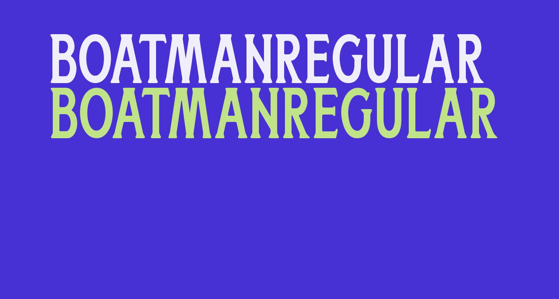 BoatmanRegular