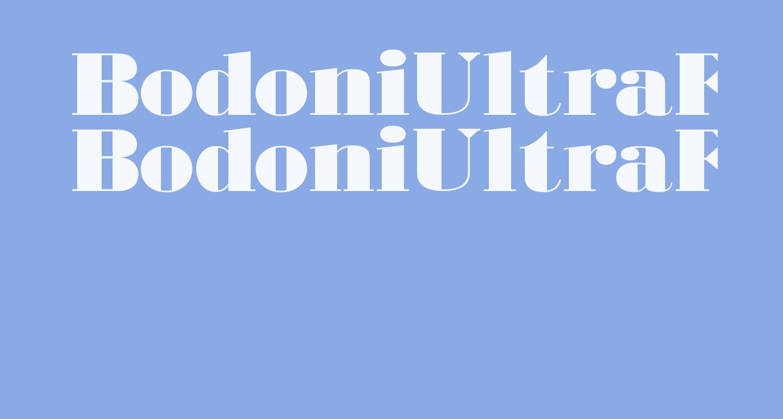 BodoniUltraFLF
