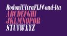 BodoniUltraFLFCond-Italic