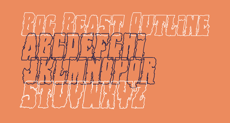Bog Beast Outline Italic