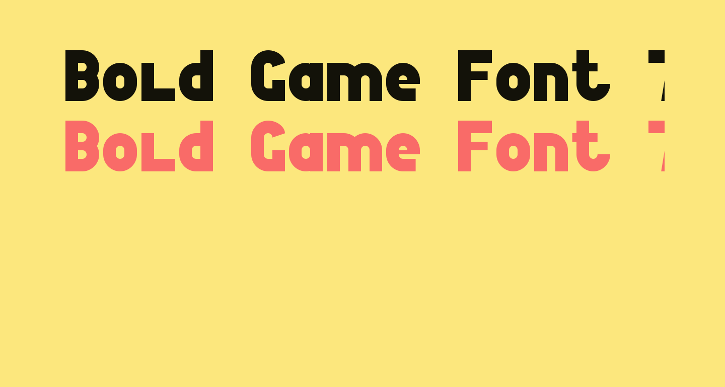 Bold Game Font 7