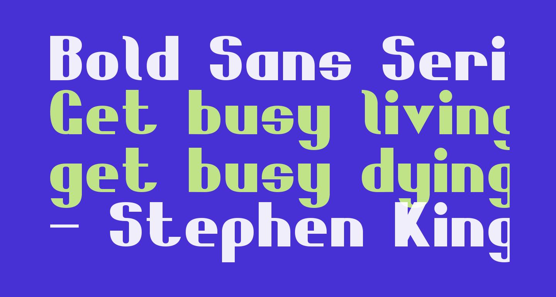 Bold Sans Serif 7