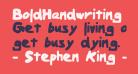 BoldHandwriting