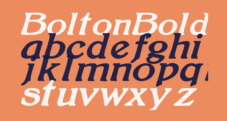 BoltonBoldItalic