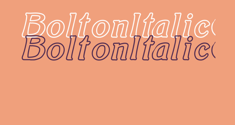 BoltonItalicOutline