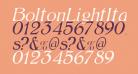 BoltonLightItalic