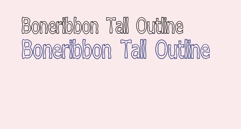 Boneribbon Tall Outline